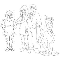 Scooby-and-Friends-Solving-Mysteries coloring pages