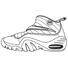 Shoes to Play Basketball Coloring Pages