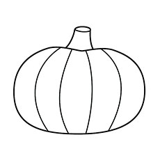 simple pumpkin coloring pages - Coloring Pages Simple