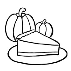 Slice Of Pumpkin Pie Coloring Pages