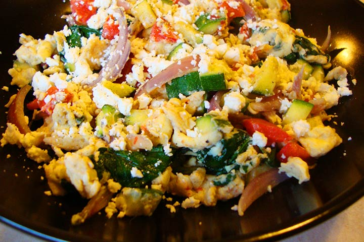 Vegetable and Cheese Scramble