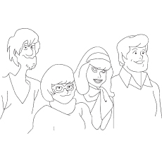 scooby-doo-disney-character coloring pages