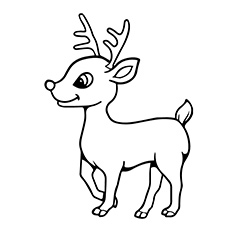 A Reindeer Coloring Pages Baby