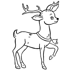 a reindeer coloring pages christmas