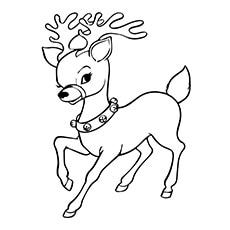 reindeer coloring page a reindeer coloring pages free