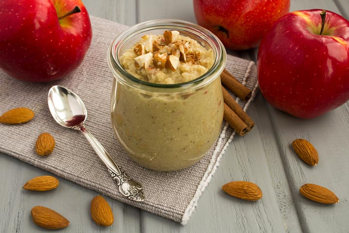 Almond and apple puree