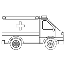 truck ambulance coloring pages - Ambulance Pictures To Colour