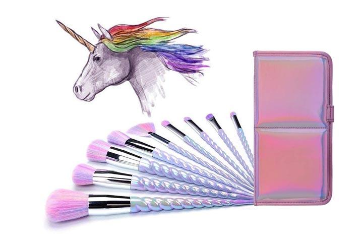 Ammiy Unicorn Makeup Brushes- Set of 10