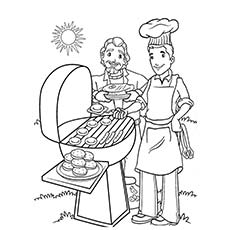 barbecue - Summer Coloring Page