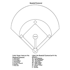 Baseball Diamond Field Coloring Page to Print