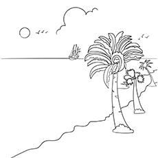 Beautiful Summer Scene Coloring Page