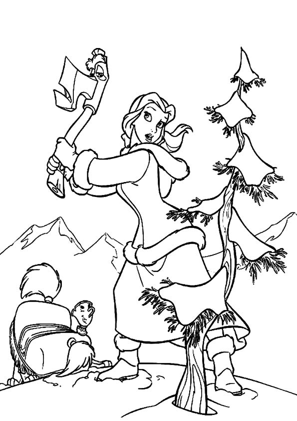 Belle-Cutting-The-Christmas-Tree