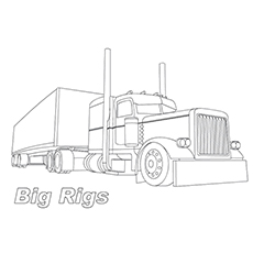 big rig trucks colouring pages - Coloring Pages Of Trucks