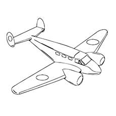 Jet Coloring Pages Beautiful In