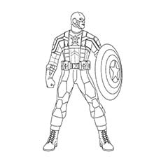 Superhero Coloring Pages Captain America to Print
