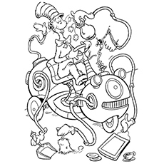 Printable Coloring Pages Of The Cat In Hat Coloring Pages Ideas