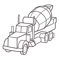 Cement Construction Truck Coloring Pages