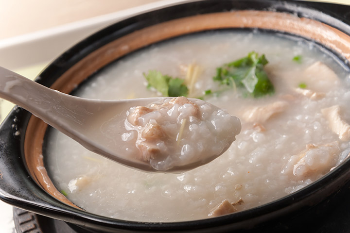 Chicken and rice porridge