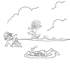 Coloring Pages Of Children In Summer