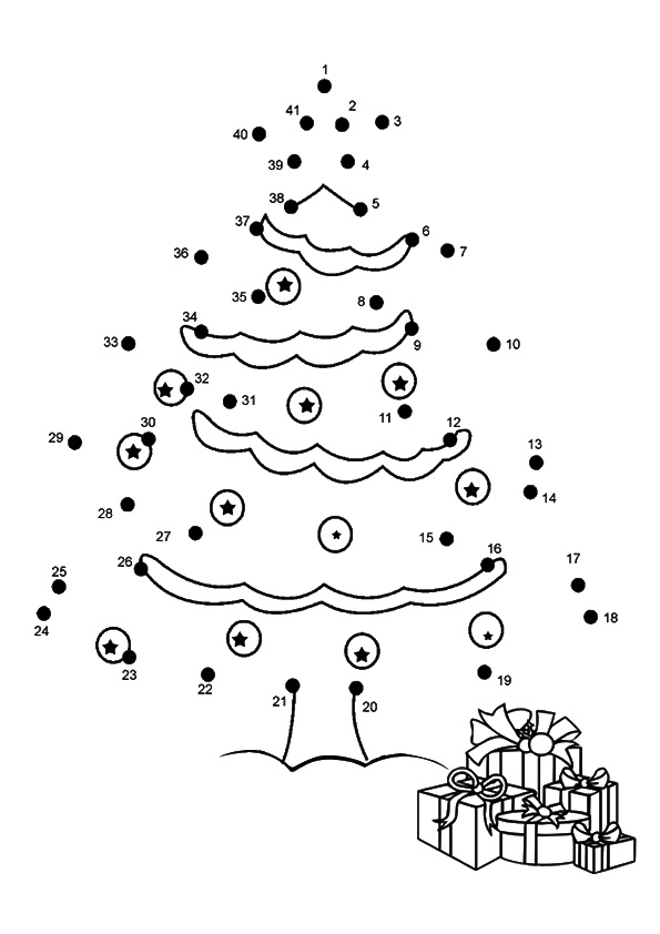 Christmas-Tree-Dot-To-Dot