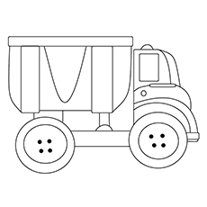 Cement Construction Truck Chuck Coloring Sheet