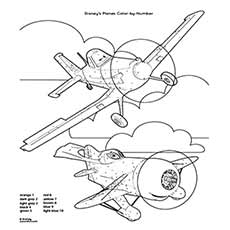 Airplane Coloring Pages Cartoon Color By Number