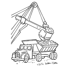 Crane Truck Coloring Page To Print Car Delivery Transport