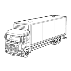 Car Delivery Transport Truck Coloring Pages free