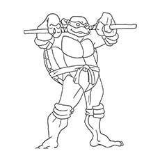 superhero donatello coloring pages - Childrens Colouring Pages