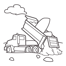 dump truck - Construction Trucks Coloring Pages