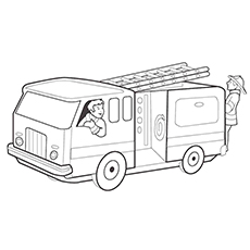 Fire Engine Truck Coloring Page