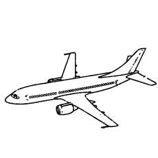 Genaral Airplane Coloring Pages