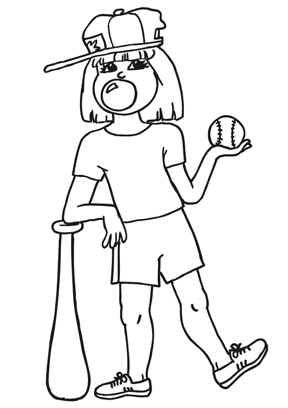 Girl-Playing-Baseball