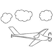 Airplane Coloring Pages Gliders