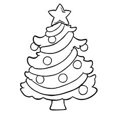 Download Christmas Tree Coloring Page For Toddlers
