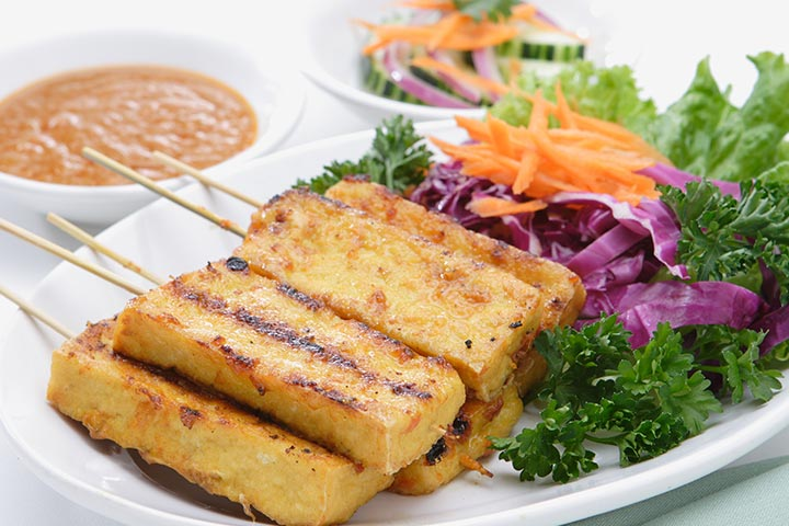 Grilled Tofu With Vegetables