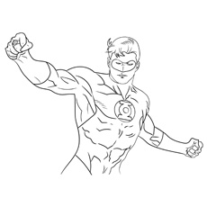 Coloring Pages Of Superhero Mr Incredible Hal Jordan