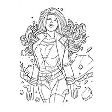 Superhero Coloring Pages Jean Grey