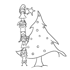 Kids Decorating X-mas Tree
