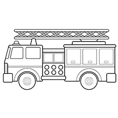 ladder truck coloring page - Coloring Pages Of Trucks