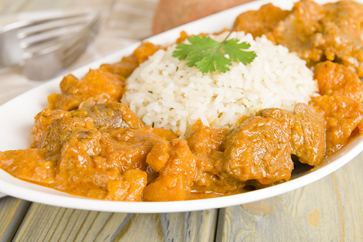 Lamb And Sweet Potato Curry-Stew