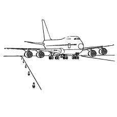 Landing-of-airplane