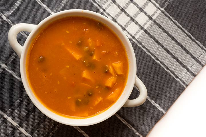 Lentil and sweet potato soup