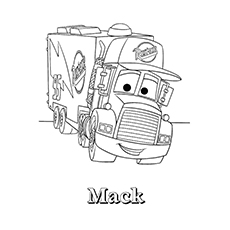 Mack Truck Coloring Pages for Kids