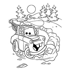 Mater The Truck Coloring Sheet to Print