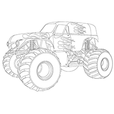 Coloring Sheet of Monster Truck