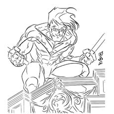 Superhero Coloring Pages Nightwing