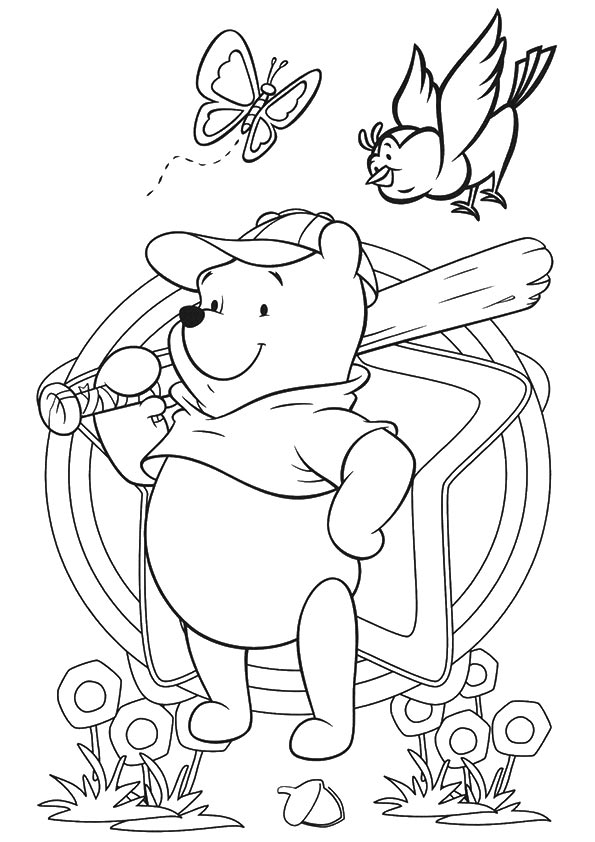 Pooh-Playing-Baseball