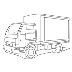 Postal Truck Coloring Free Printable
