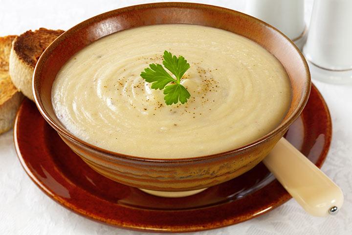 Potato, Cheese And Cauliflower Puree